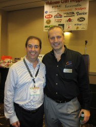 Prime Publishing, LLC President and CEO Stuart Hochwert with Craft and Hobby Association President and CEO Andrej Suskavcevic