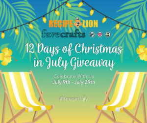 12 Days of Christmas in July Giveaway