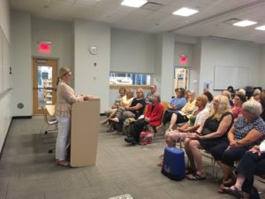 Addie Gundry at the Aspen Drive Library