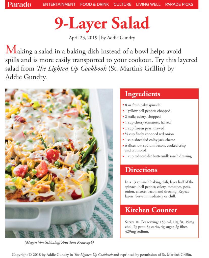9 Layer Salad